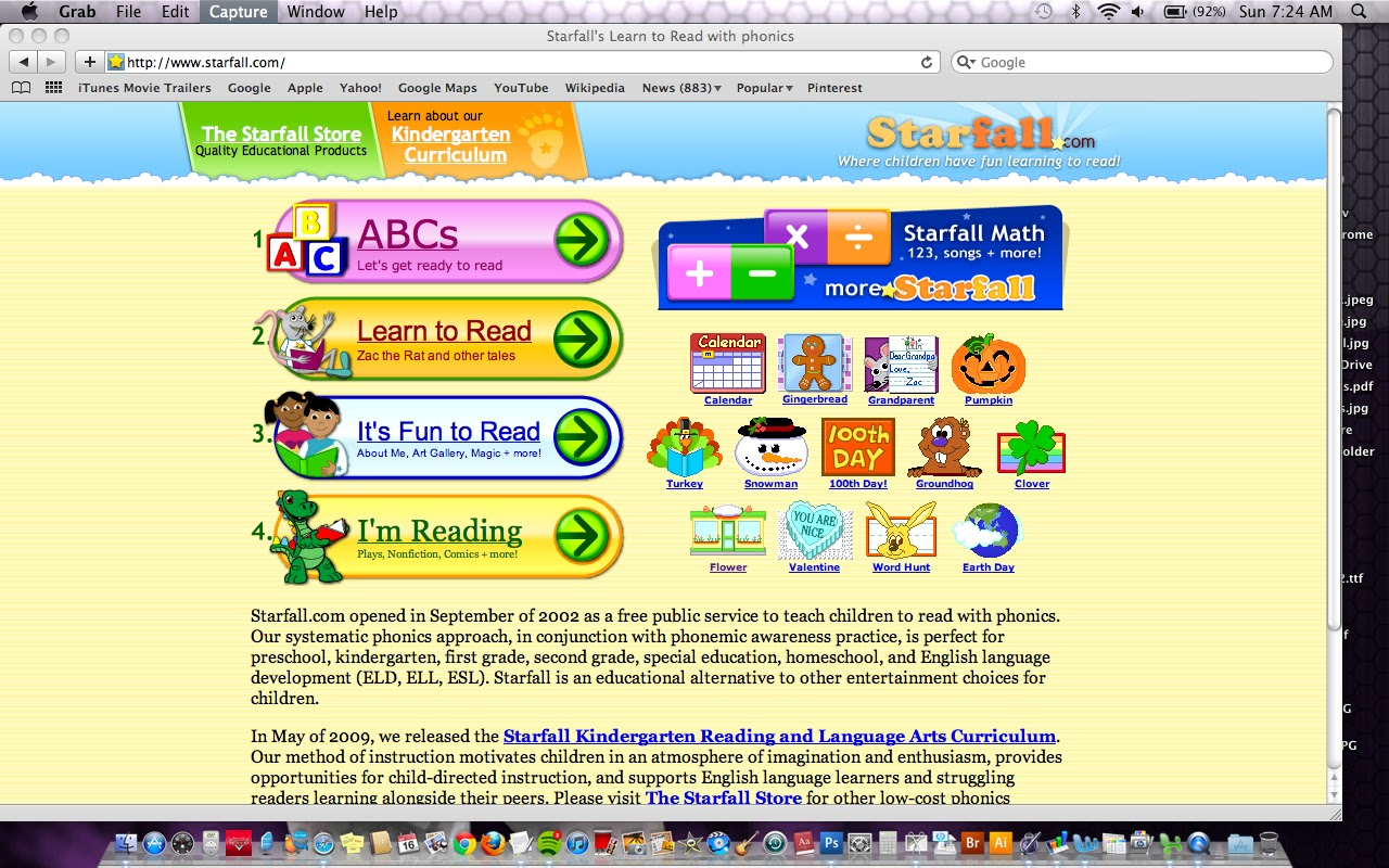 starfall learning games for children