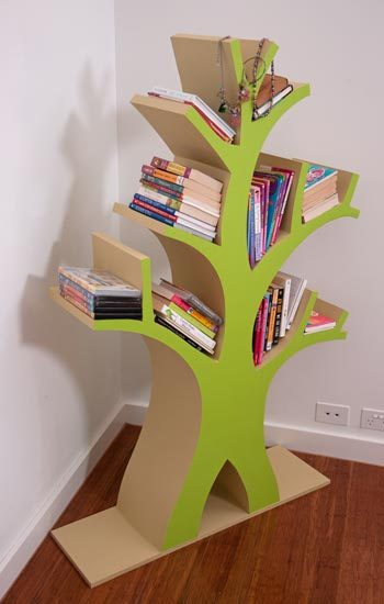 make things for kids tree bookcase tutorial