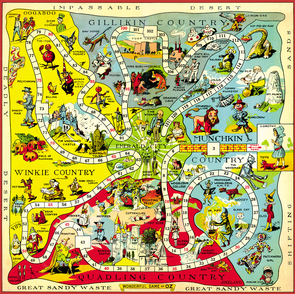 Hungry Tiger Talk Map Of Oz Monday The 1921 Game Board Map