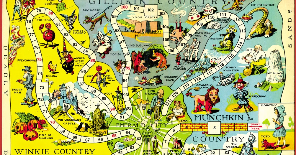 Hungry tiger talk map of oz monday the 1921 game board map gumiabroncs Gallery