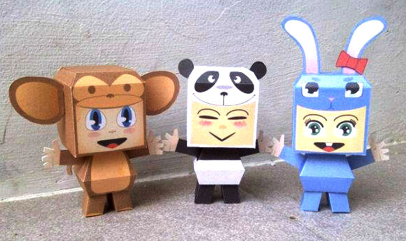 Kiddo Costume Paper Toys