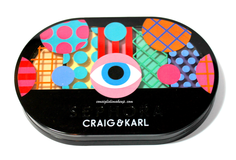Review: Palette Colorful 5 Eyeshadow «Pastel to Pop» Craig & Karl Collection for Sephora