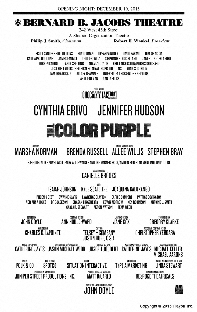 review the color purple seen december 17 2015 - The Color Purple Book Pdf