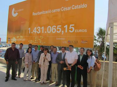 Carlos Eleno: 'Benicarló renueva la imagen urbana de la ciudad al reurbanizar la calle Cesar Cataldo'