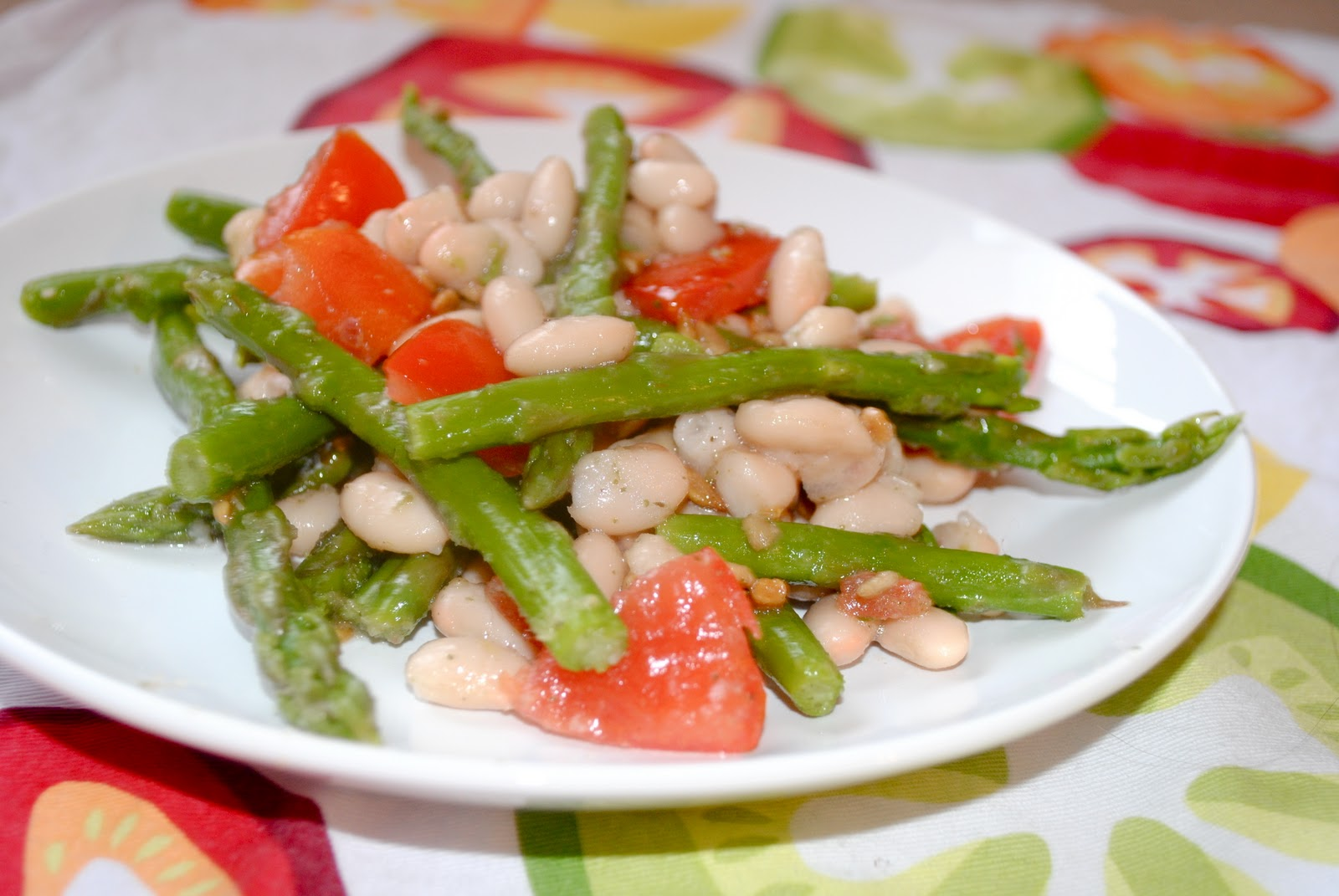 Asparagus White Bean Salad - Fit Foodie Finds