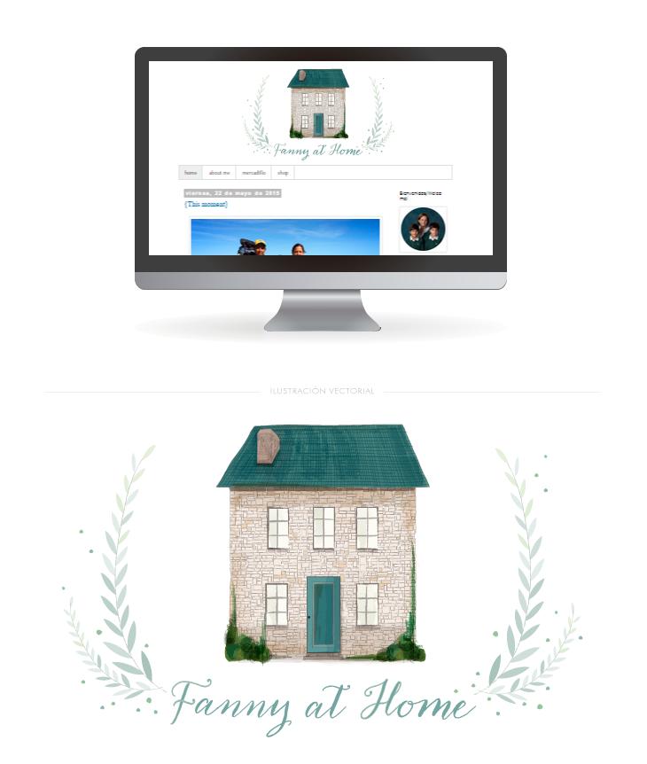 cabecera de blog diseño ilustración vectorial
