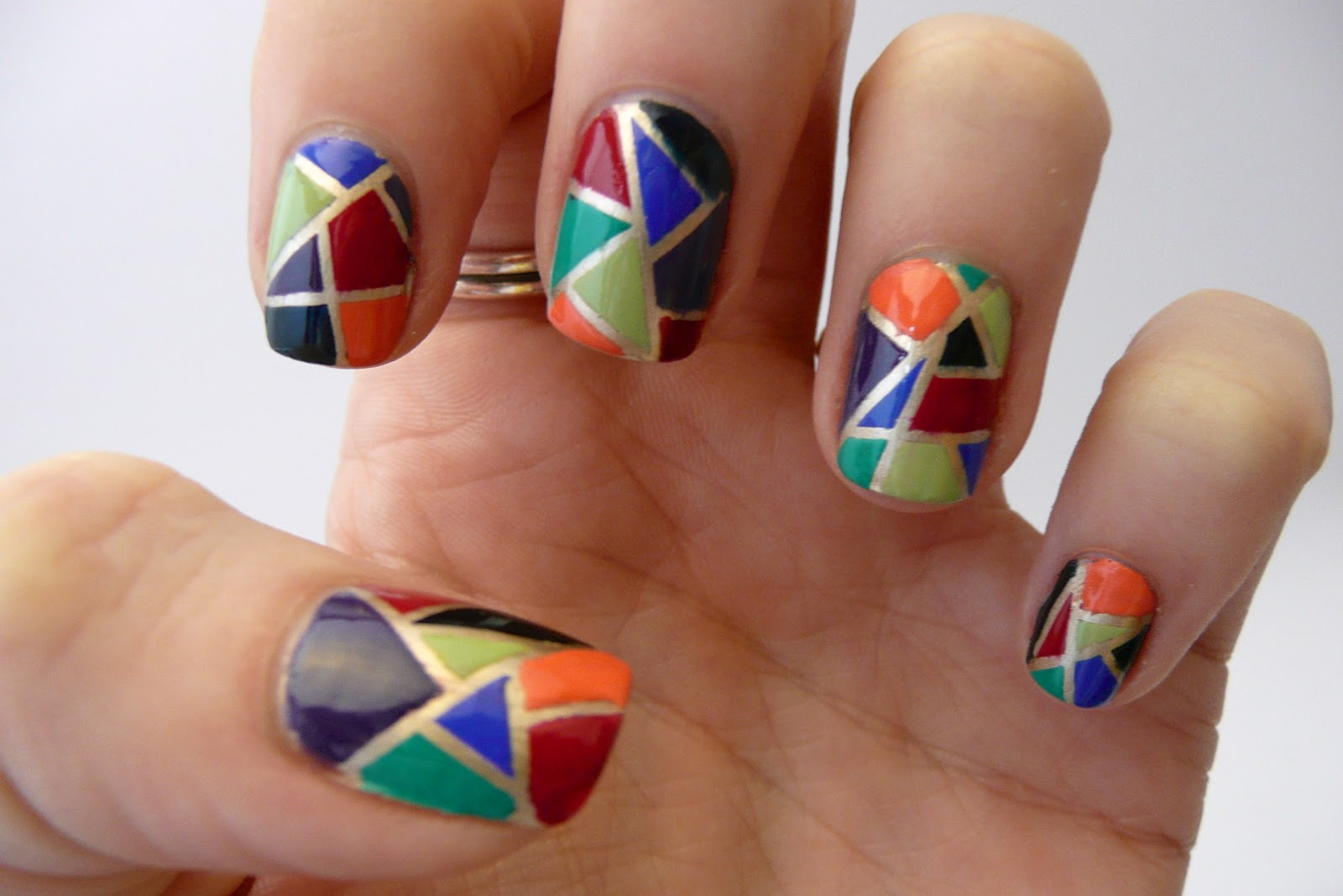 Casa de Polish: As Seen on Pinterest: Stained Glass Nails