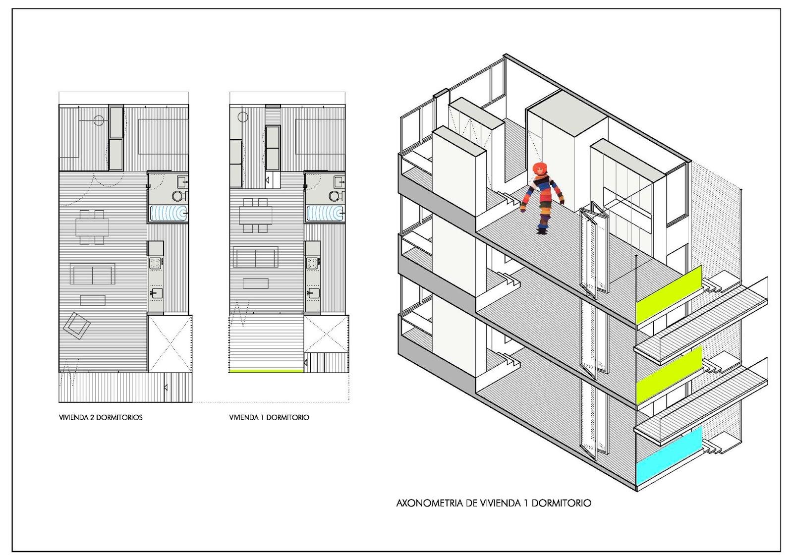 Beriot bernardini arquitectos concurso de viviendas para for Vivienda interior