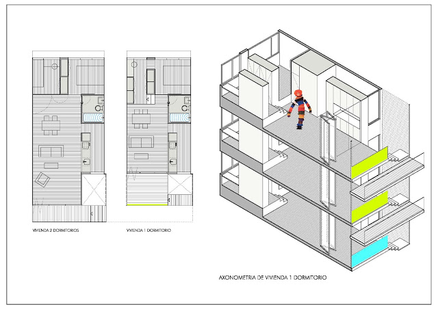 Concurso viviendas, Rehabilitación edificio Madrid, Reforma vivienda Madrid, Loft Madrid