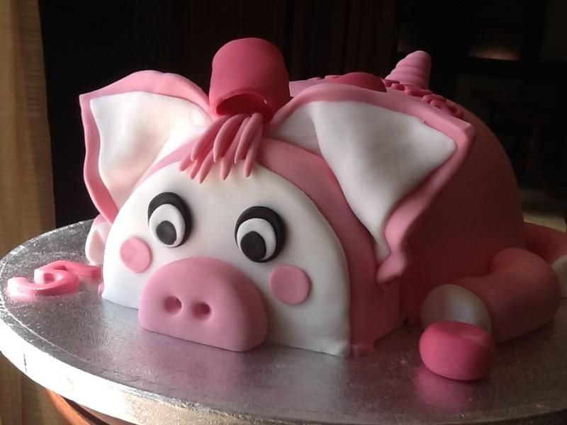 Ảnh bánh sinh nhật hình con heo đẹp nhất đáng yêu nhất