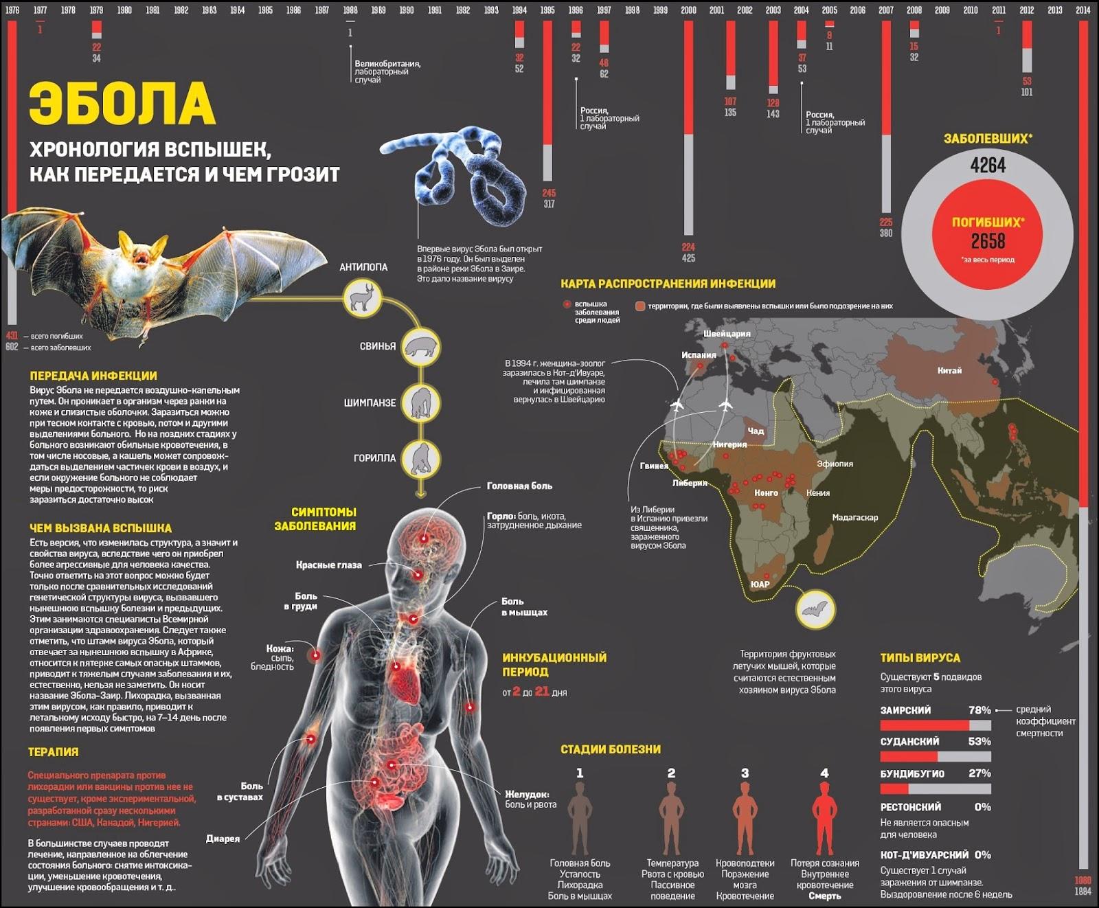 Хронология вспышек Эболы