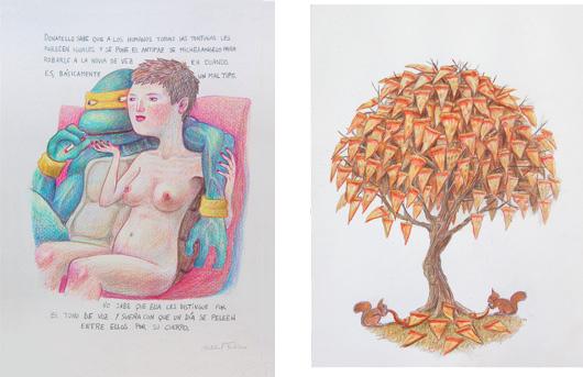Dibujos incluidos en la expo de Rughara