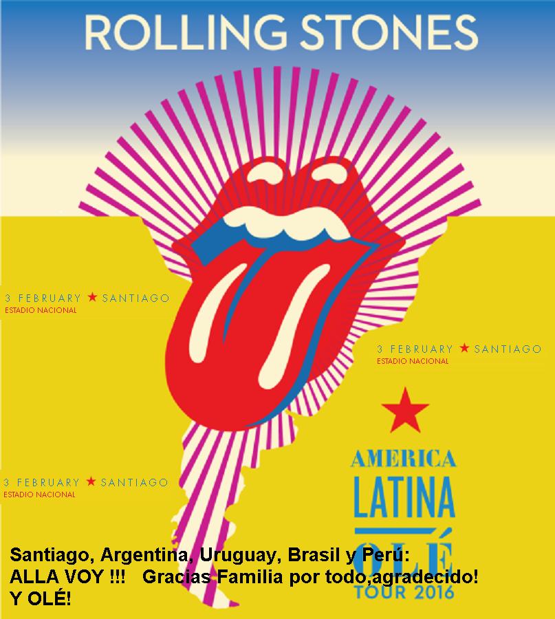 SANTIAGO, ARGENTINA, PERU, URUGUAY, BRASIL ALLA VOY !!!!