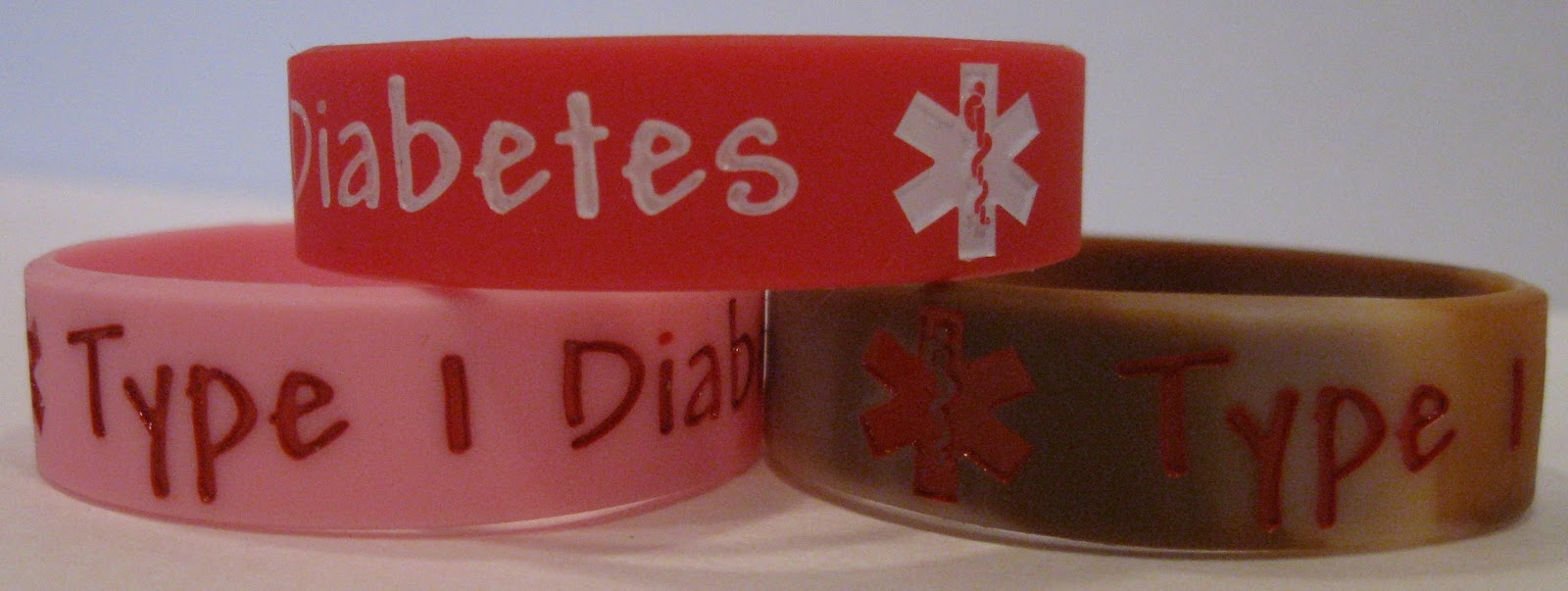 personal care diabetic alert insulin bracelet dependent various dp diabetes amazon colors health pc medical type com