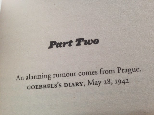 HHhH by Laurent Binet book, Goebbel's diary