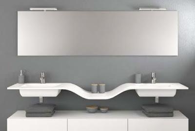 moderna decoración del cuarto de baño