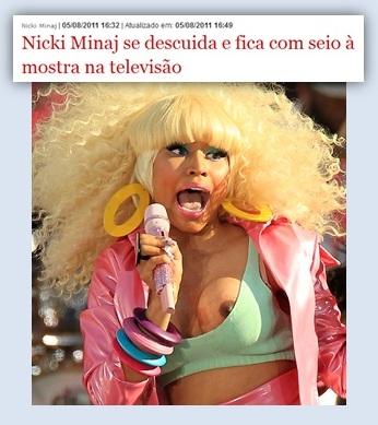 Nicki minaj en vivo lenceria negra 6