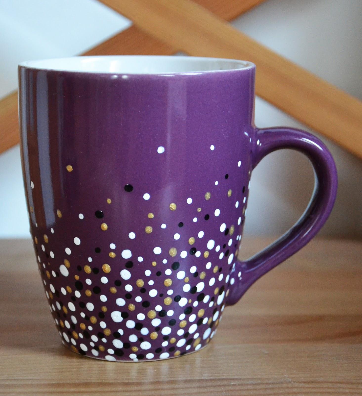 purple dotty mug the cheekiest monkey of all. Black Bedroom Furniture Sets. Home Design Ideas