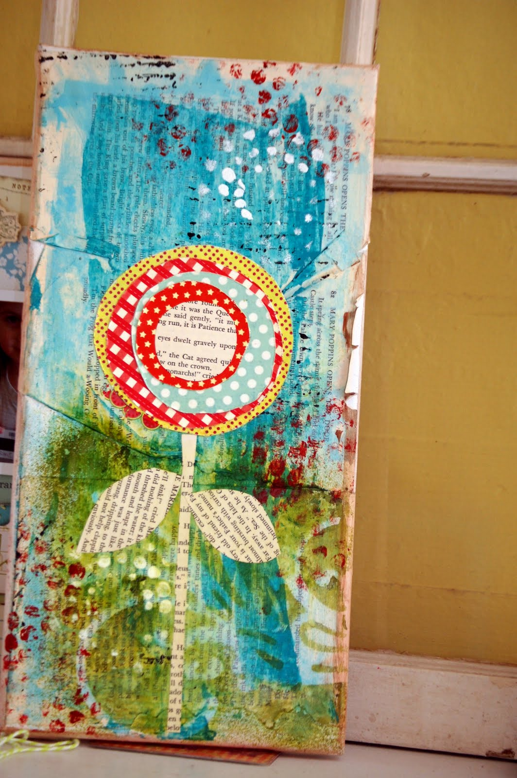 Layouts and projects mixed media flower for Mixed media canvas art ideas