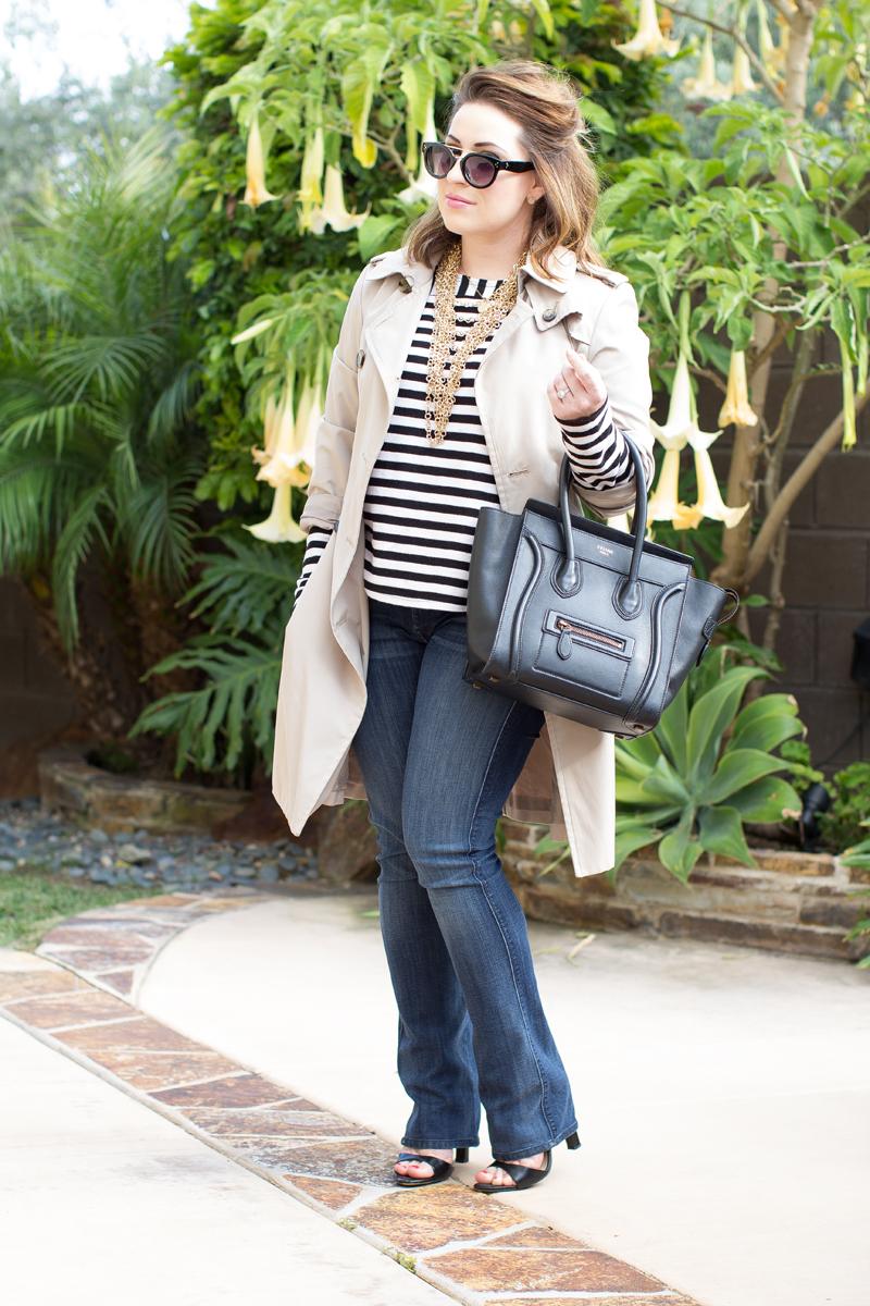 celine black luggage tote, similar to celine tote, 7FAM skinny illusion bootcut jeans