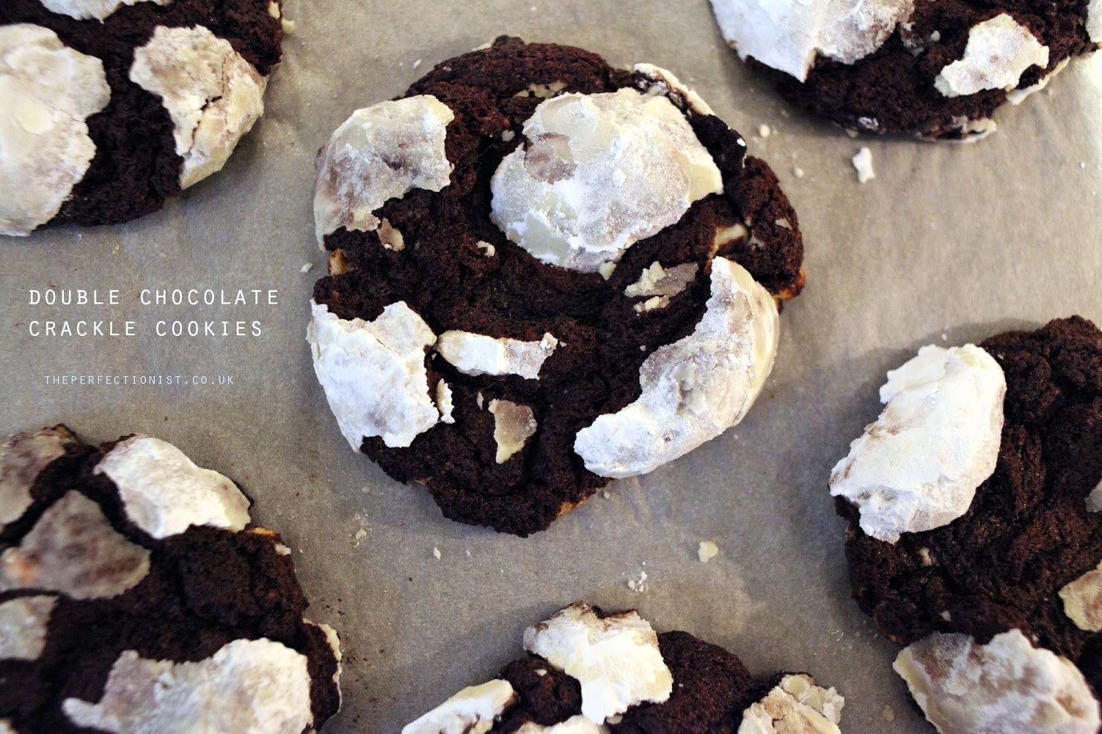 The Perfectionist: Double Chocolate Crackle Cookies