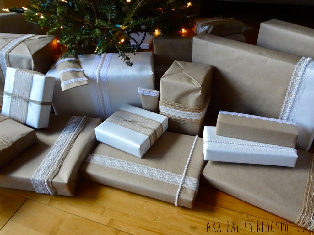 Gifts wrapped beneath the tree