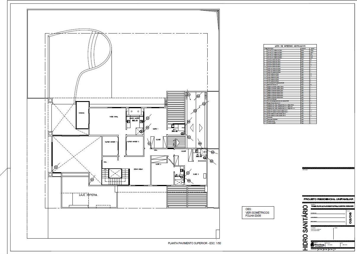 Projetos & Desenhos: Projeto Hidro Sanitário #626769 1207 857