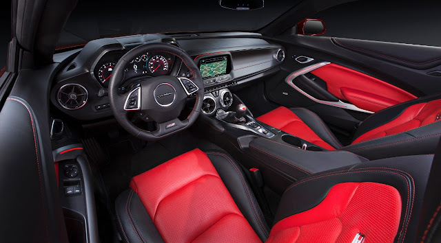 2016 Chevrolet Camaro interior blue