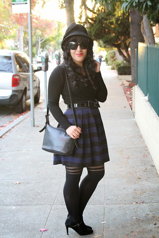 Striped Skirt and Tights