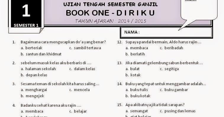 Download Soal Uts 1 Kelas 1 Tema 1 Rief Awa