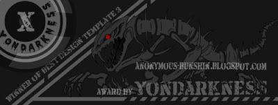 Winner of Best Template Design By Yondarkness