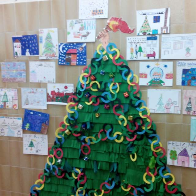 Colegio p blico pintor sorolla elda decoraci n de for Ideas decoracion navidad colegio