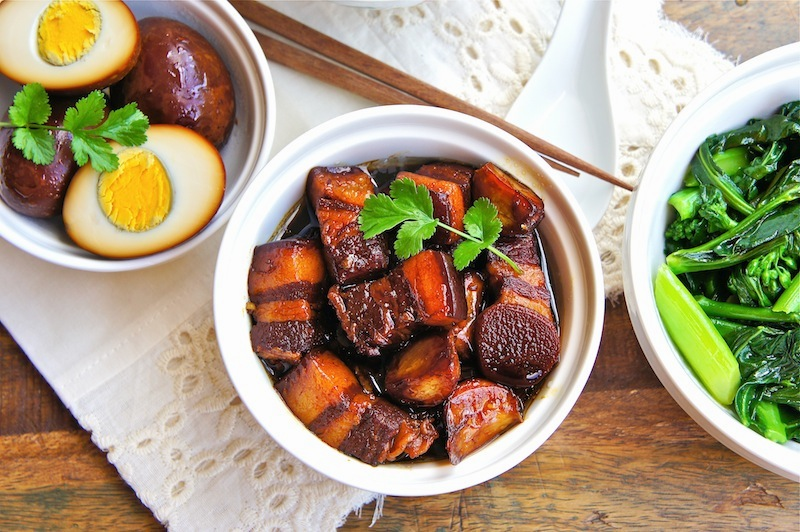 Image result for caramelised pork with eggs