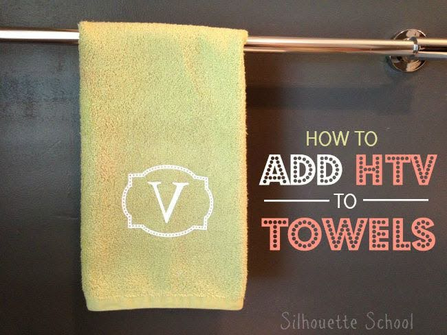 How To Add Htv On Towels Silhouette School Bloglovin