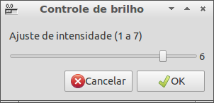 Interface do controle de brilho - screenshot