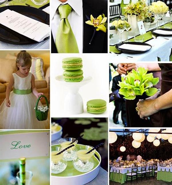 Green And White Wedding Theme - Fresh Flowers