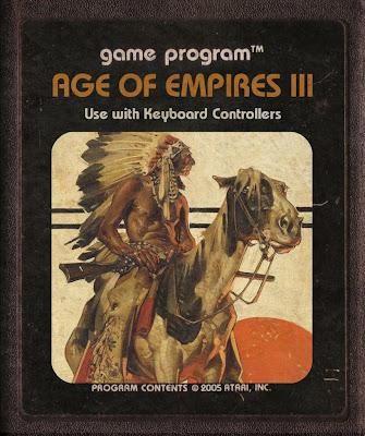 Cartucho de Atari Retro Arte Índio Cavalo Age of Empires III