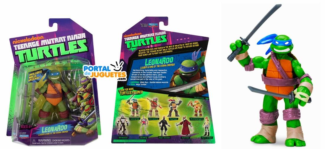 figura leonardo tortuga ninja playmates toys