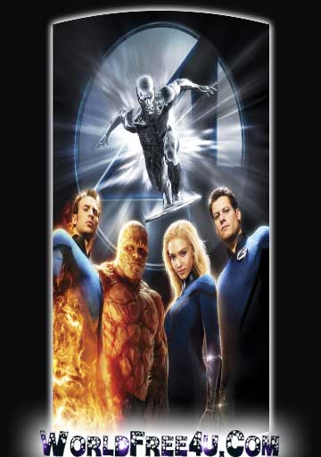 Poster Of Fantastic Four 2 (2007) Full Movie Hindi Dubbed Free Download Watch Online At worldfree4u.com
