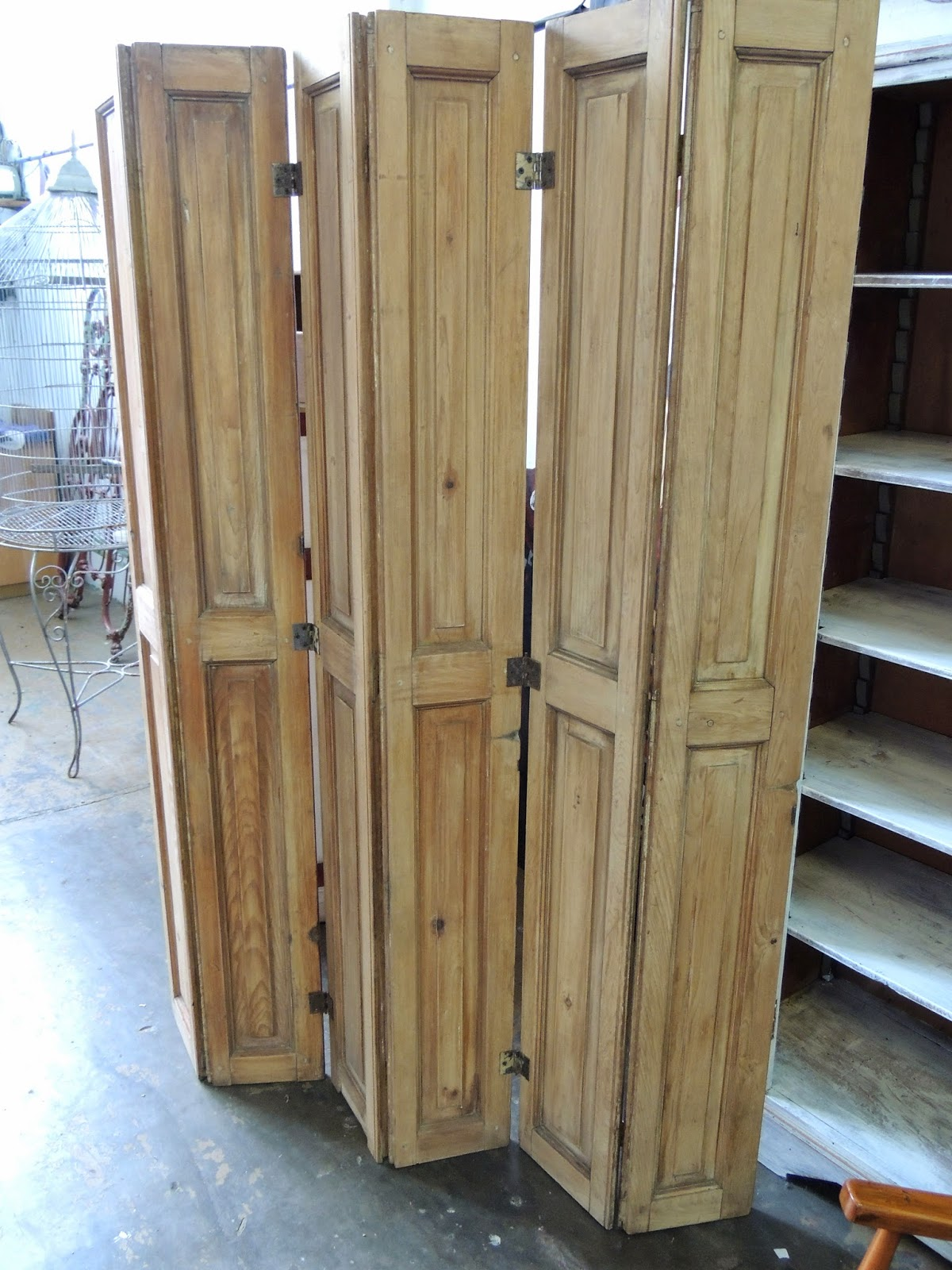 Biombo en hojas tablero de antiguo pino oregon en madera - Tableros de madera de pino ...