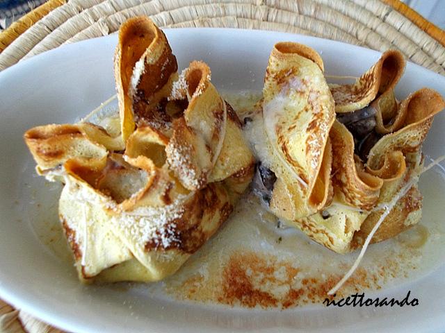 Ricette crepes funghi prosciutto