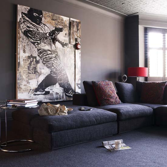 Salas en color gris ideas para decorar dise ar y for Sala color gris