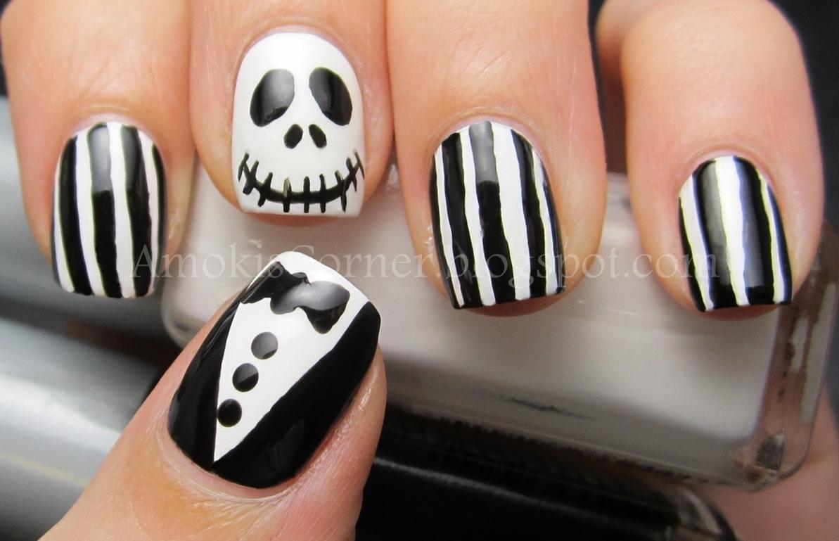 Awesome Jack Skeleton Nails Ensign - Nail Art Design Ideas ...