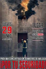 """Concentración de los Bomberos de Málaga """"Por tu seguridad"""""""