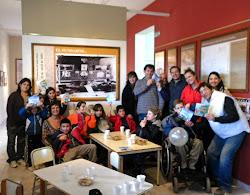 ¡Felices vacaciones,chicos! Con alumnos de la Escuela Especial de Macachín.