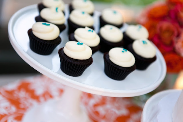 Cupcakes with Blue Garnish