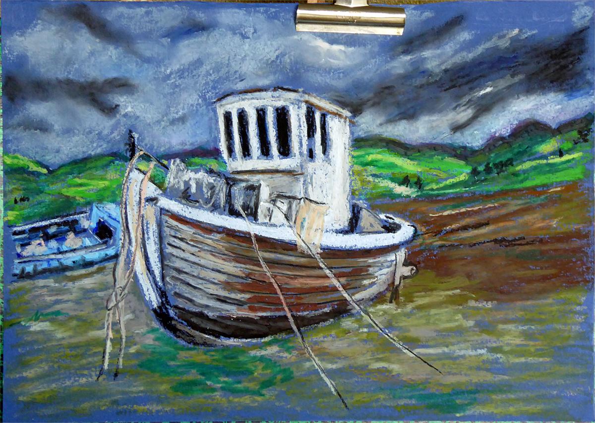 Art de vivre la peinture de peintrefiguratif marine au pastel gras for Peinture pastel gras