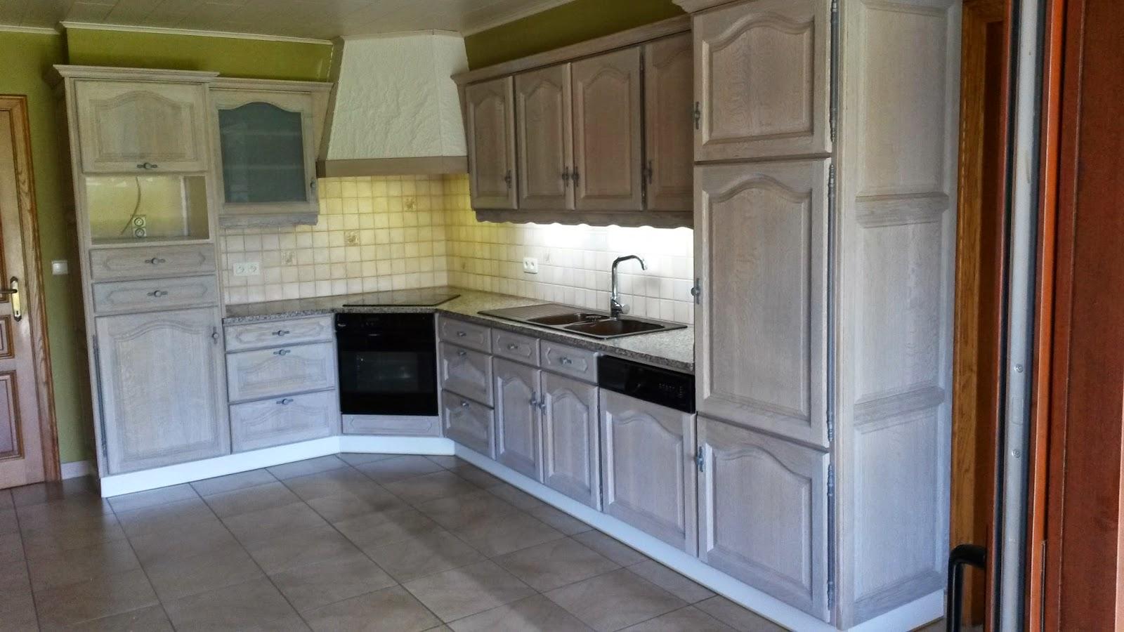 Eiken Keuken Stralen : Renovatie van eiken keukens Renovatie eiken keuken te Wervik
