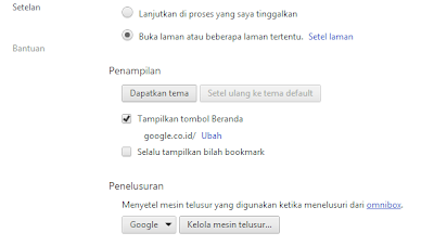 setting google chrome