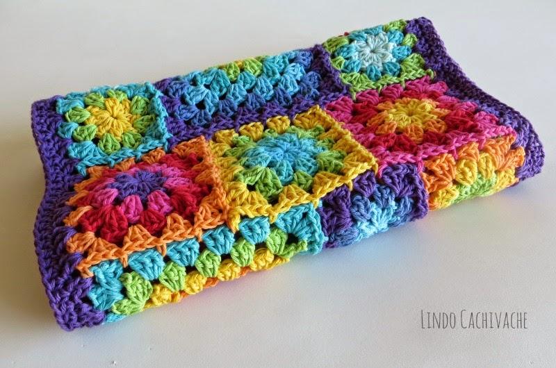 Rainbow Granny Square - Lindo Cachivache